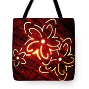 Brilliant Floral Abstract Tote Bag