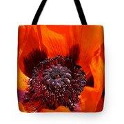 Brilliant Poppy Tote Bag