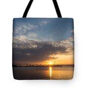 Brilliant Toronto Skyline Sunrise Over Lake Ontario Tote Bag