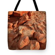 Brilliantly Colored Sandstone At Sunrise In Valley Of Fire Tote Bag