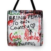 Bring Peace Tote Bag