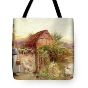 Bringing Home The Sheep Tote Bag by Ernest Walbourn