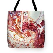 Bringing Into Life Fragment 2. Fluid Acrylic Painting Tote Bag