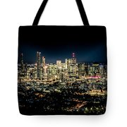 Brisbane Cityscape From Mount Cootha #7 Tote Bag
