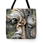 Bristlecone Pine - 'i Am Not Part Of History - History Is Part Of Me' Tote Bag