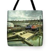 Bristol Barge Dry Dock  Tote Bag