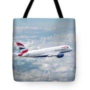 British Airways Airbus A380-841 Tote Bag