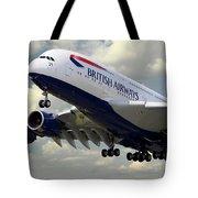 British Airways Airbus A380 Tote Bag