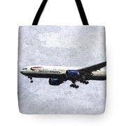 British Airways Boeing 777 Art Tote Bag