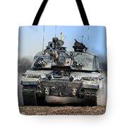 British Army Challenger 2 Main Battle Tank   Tote Bag