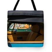 British Car Blue Tote Bag
