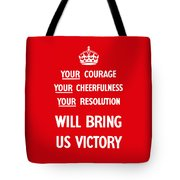 British Ww2 Propaganda Tote Bag by War Is Hell Store