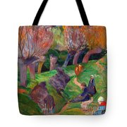 Brittany Landscape With Cows Tote Bag