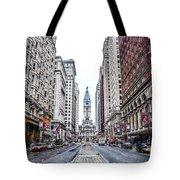 Broad Street Facing City Hall In Philadelphia Tote Bag