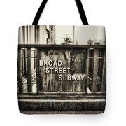 Broad Street Subway - Philadelphia Tote Bag
