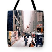 Broadway And 42nd Street 1985 Tote Bag