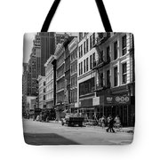 Broadway, New York In Black And White Tote Bag