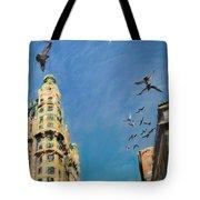 Broadway Pigeons No. 1 Tote Bag