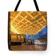 Broadway Theater Marquee Lights In Downtown Tote Bag