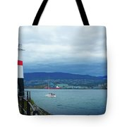Brockton Point Lighthouse In Stanley Park Tote Bag