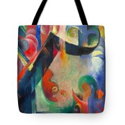 Broken Forms By Franz Marc Modern Bright Colored Painting  Tote Bag