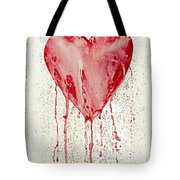 Broken Heart - Bleeding Heart Tote Bag