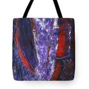 Broken Purple Heart Tote Bag