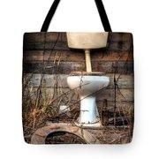 Broken Toilet Tote Bag by Carlos Caetano