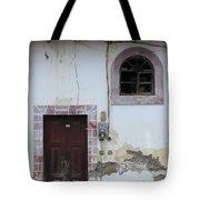 Broken Window And Wood Door Tote Bag