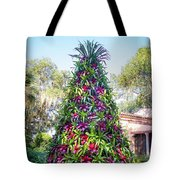 Bromeliad Christmas Tree At Pinewood Estate, Bok Tower Tote Bag