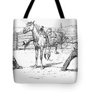 Bronco Busters Saddling Tote Bag by Granger
