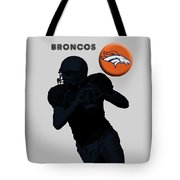 Broncos Football Tote Bag