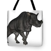 Brontotherium Isolated On White Tote Bag