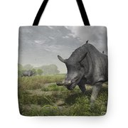 Brontotherium Wander The Lush Late Tote Bag by Walter Myers