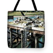 Bronze Eagle And Water Fall Tote Bag