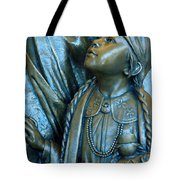 Bronze Onieda Indian Girl Tote Bag