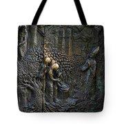 Bronze Sculptured Church Door - Slovenia Tote Bag