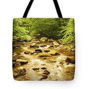 Bronze Stream Tote Bag