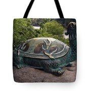 Bronze Turtle Dragon Sculpture Tote Bag