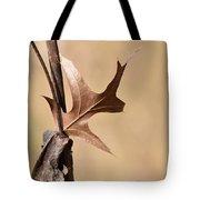 Bronzed Oak Leaf Horizontal Tote Bag