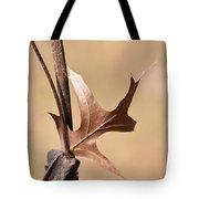 Bronzed Oak Leaf Vertical Tote Bag
