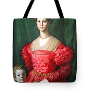 Bronzino's A Young Woman And Her Little Boy Tote Bag