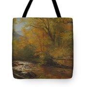 Brook In Woods Tote Bag