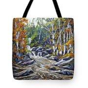 Brook Traversing Wood Tote Bag
