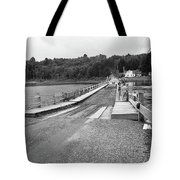 Brookfield, Vt - Floating Bridge 5 Bw Tote Bag
