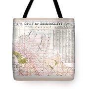 Brooklyn 1893 Map Tote Bag