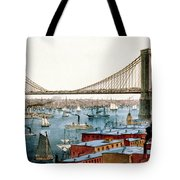 Brooklyn Bridge, 1872 Tote Bag