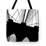 Brooklyn Bridge Architectural View Tote Bag