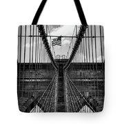 Brooklyn Bridge Bw Tote Bag