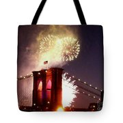 Brooklyn Bridge Celebration Tote Bag